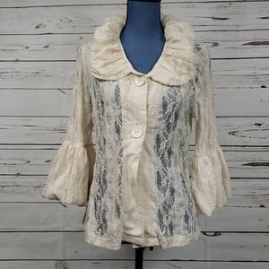 Ivory Lace Vintage Inspired Blouse